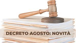 """COVID-19 """"Decreto Agosto"""": principali novita'"""