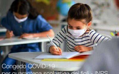"""COVID-19 """"Congedo per quarantena scolastica dei figli"""""""